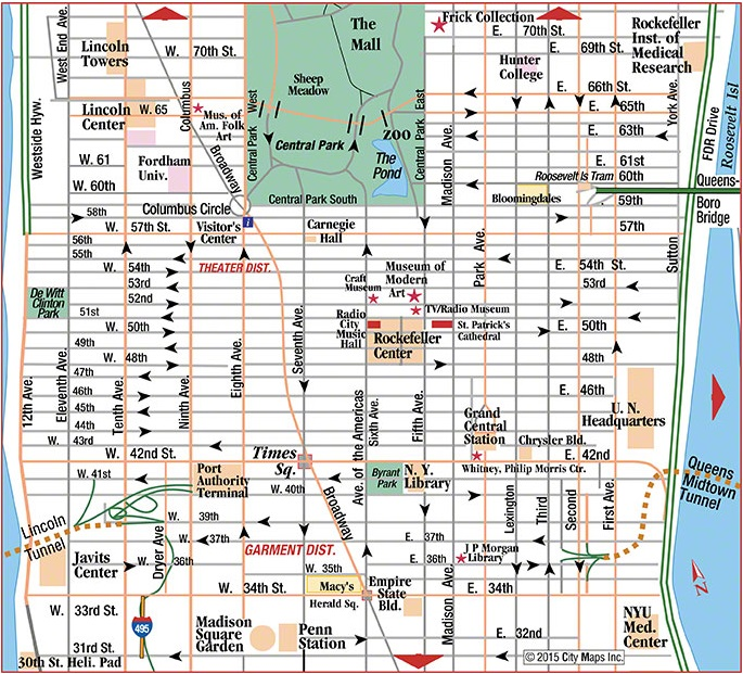 NYC road map