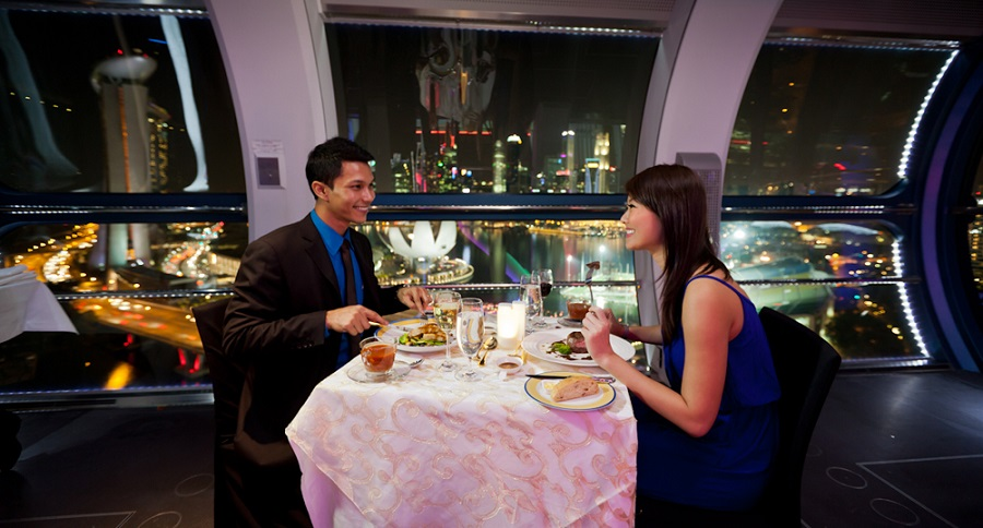 sky dining the singapore flyer